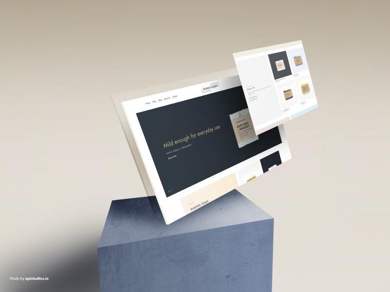 inanas soaps website design