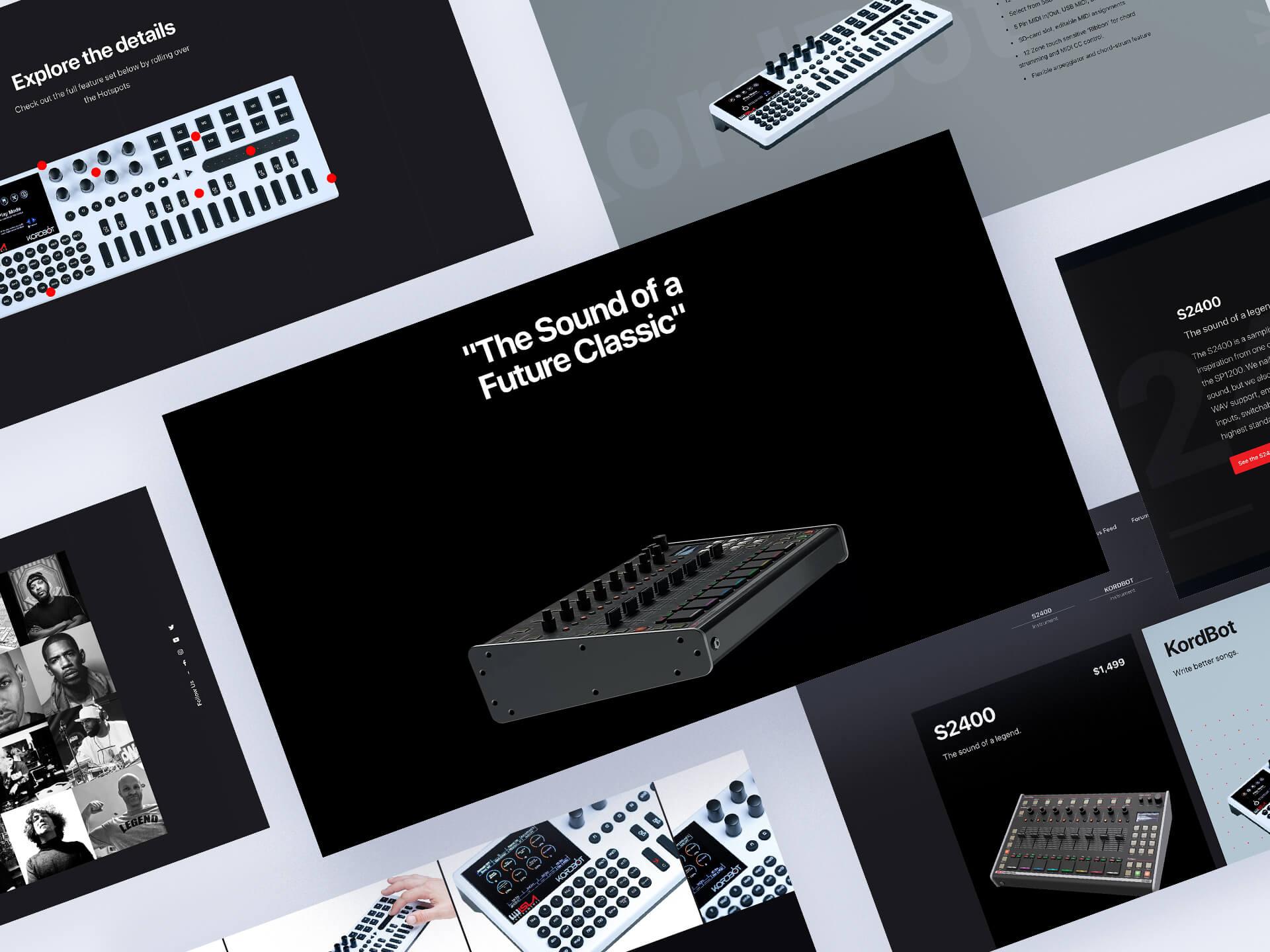 isla instruments website design
