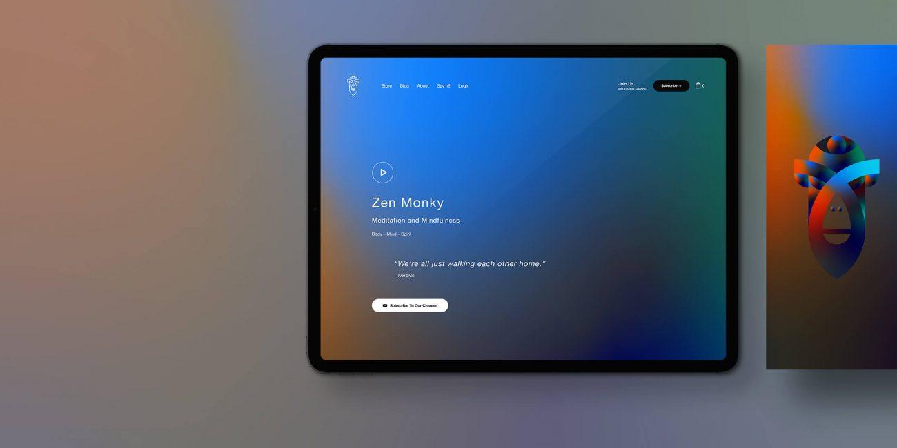 zen monky website design